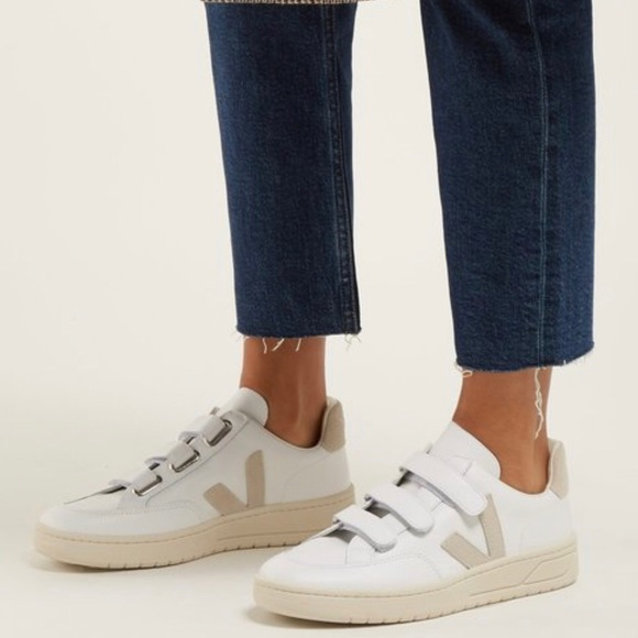 Veja V2 Velcro White Leather Sneakers